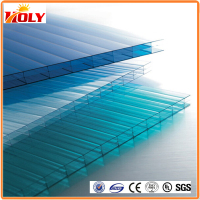 triple wall greenhouse roof panels 6mm polycarbonate hollow sheet solar panel roofing sheets
