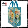 Promotion laminated reusable pp shopping bag with zipper