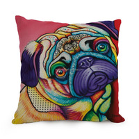 dog 3d New design custom made animal dogs digital printing cushion cover 45*45cm square