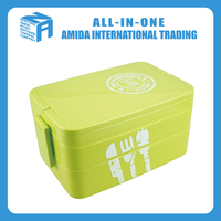 Portable hand-held plastic and wholesale Multi-Functional lunch box