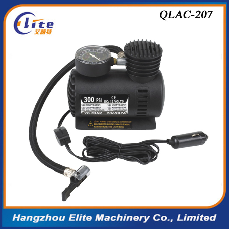 0.38m Rubber 12V 300PSI 10A car air compressor