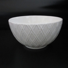 hot new product for 2017 healthy food bone china embossed bowl