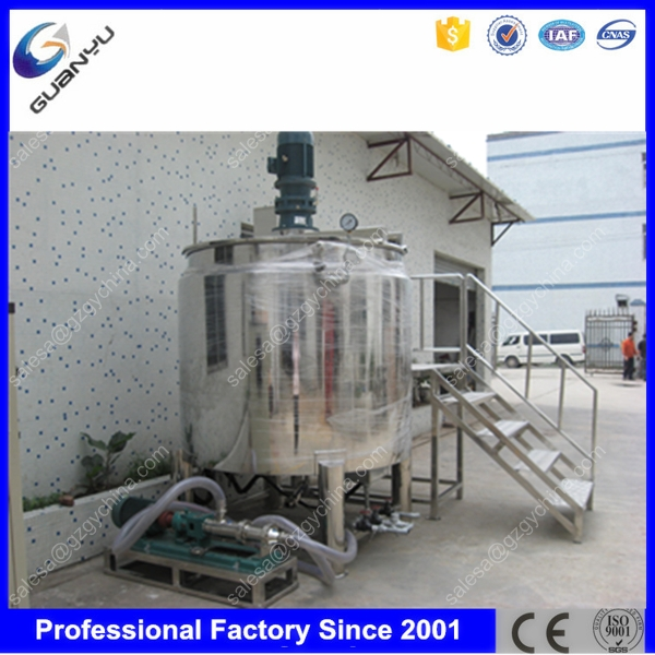 Stainless stell 500 liter liquid mixing tank for soap making