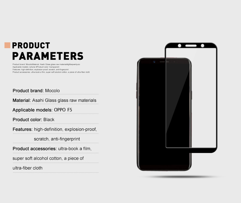 mocolo Tempered glass for oppo F5 (9)