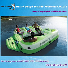 Titan giant 6 person PVC inflatable floating seat island Oasis with 8 Cup holders in the river lake or sea