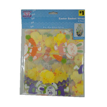 Easter Chicken Plastic Basket Shrink Wrap Gift Bag