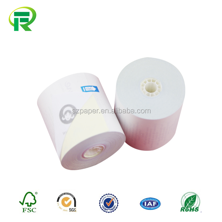 Factory Supplier pre-printed carbonless paper rolls for computer with high quality