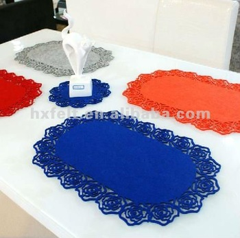 Eco-friendly Table Mat Made Of Felt For Home Decoration