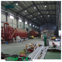 turn plastic into oil pyrolysis plant recycling machine with ISO/CE