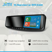 "5"" HD Dual Core 1.3Ghz GPS Navigation Android 4.2 Rearview Mirror android gps 3g dvr with sim card camera wifi"