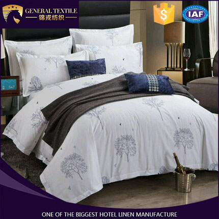 100% cotton super soft new design printing bedding set for hotel