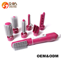 Professional Hair Styler With 7 attachments Hair roll brush set