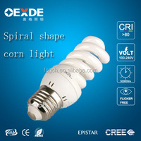 Indoor lighting full spiral light 220V input CFL 20w/26w energy saving bulbs white with ce certificate