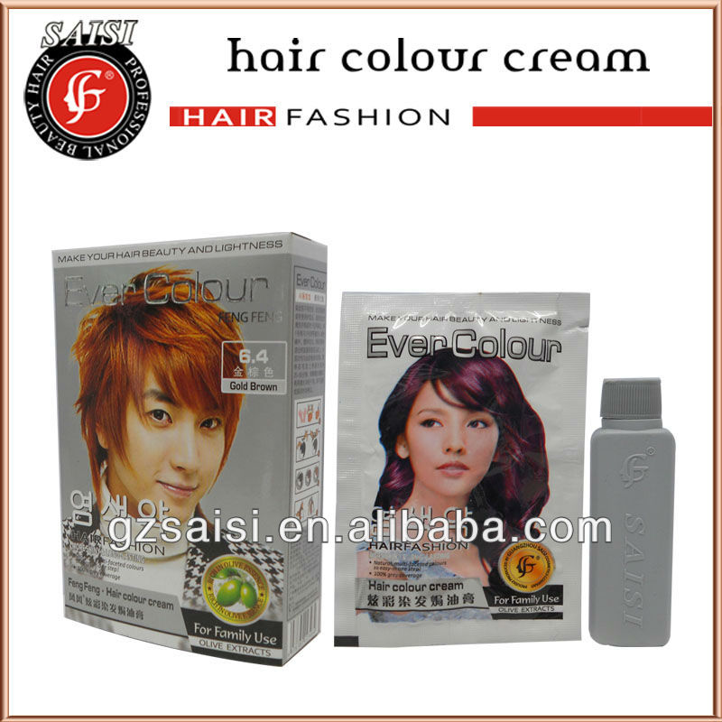 professional color cream for brazilian hair color dye