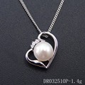 925 Sterling Silver Cage Pendant Freshwater Pearl Fashion Woman's Jewelry Mother of Pearl Pendant DR032510P
