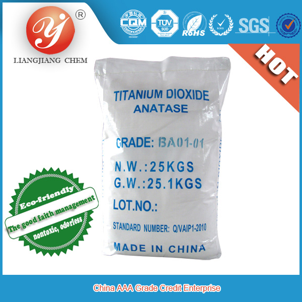 Hot Sale Liangjiang brand high quality titanium dioxide rutile 93% and anatase 98% titanium dioxide chemical properties