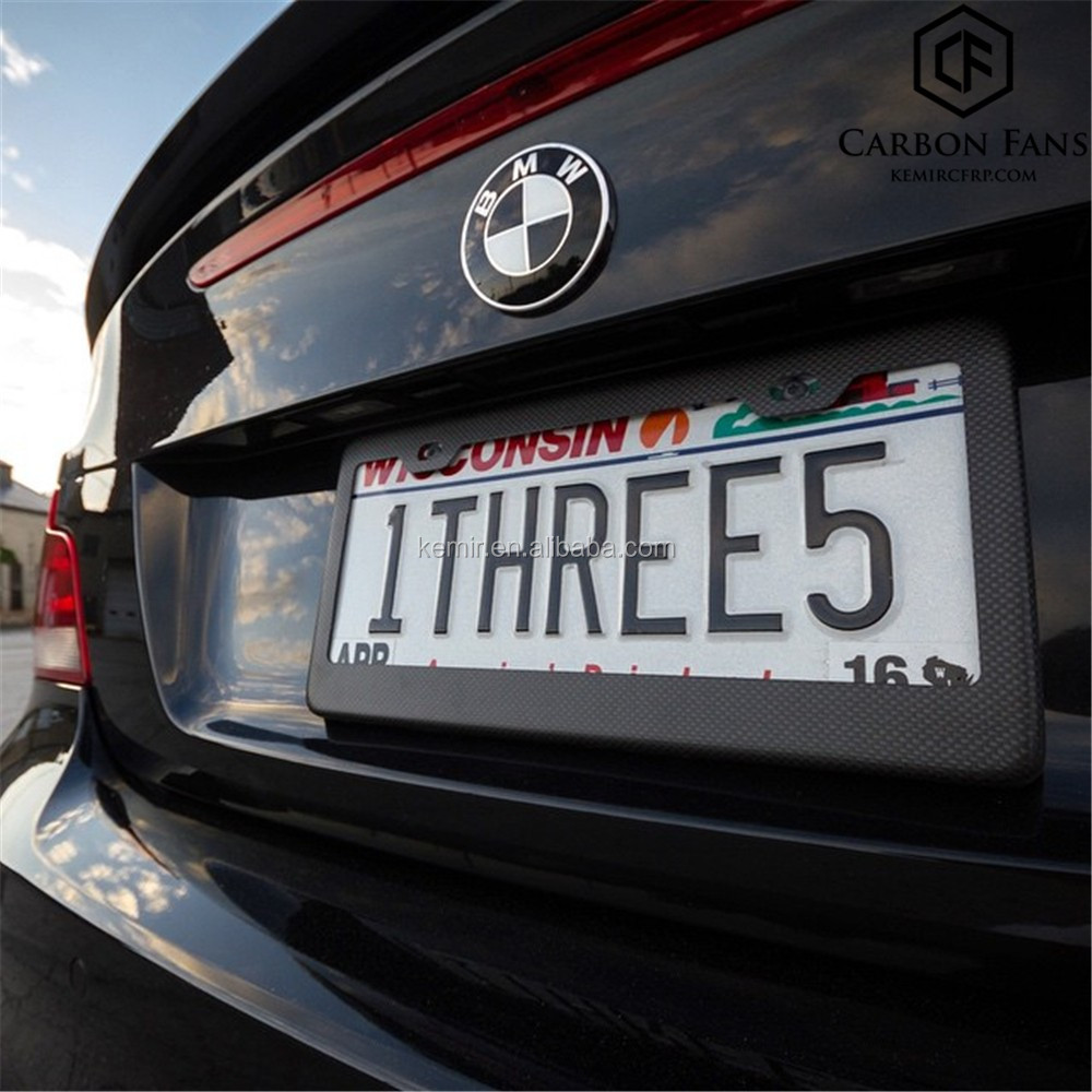 100% real Carbon fiber licence plate frame for USA car number plate ...
