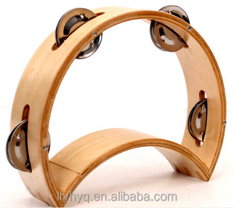 shaking drum shells wooden tambourine without skins