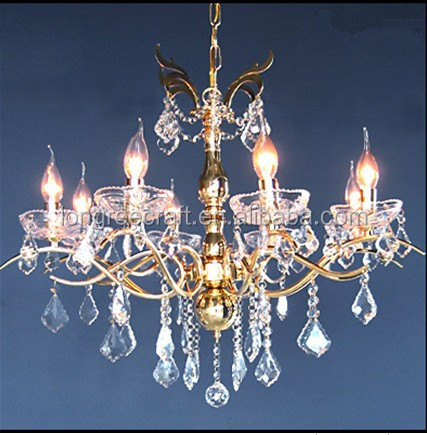 8 Candles Lights A Crystal Professional Design Chandelier