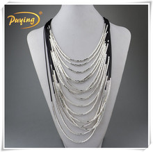 Latest designs multi strand wire pendant necklace with magnetic clasp