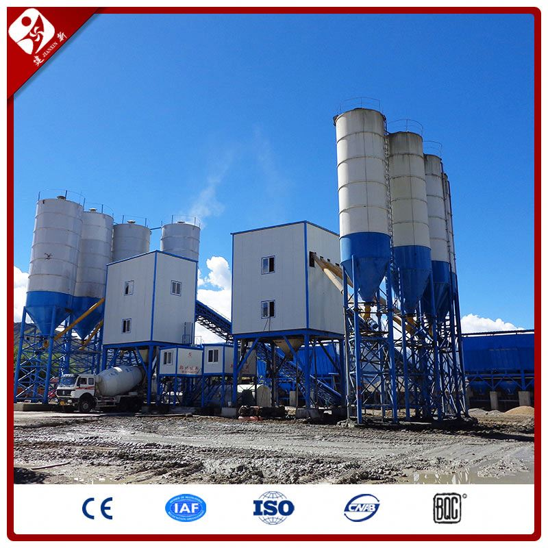 180M3/H Ready Mix Concrete Batching Plant Station Layout From China Top10 Manufacturer