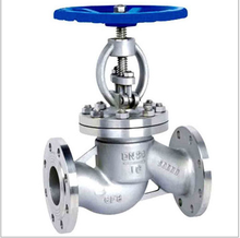 manual flanged water stainless steel stop valve with hand wheel pn10