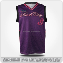 Sublimated Customization Short Top reversible basketball jerseys