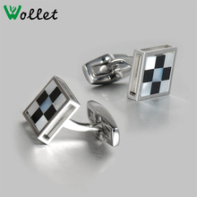 high quality custom stainless steel cufflink for mens shirts