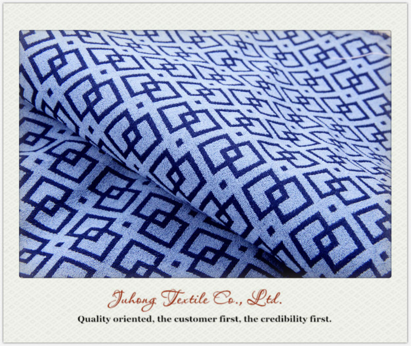 high quality spandex polyester jacquard tr fabric