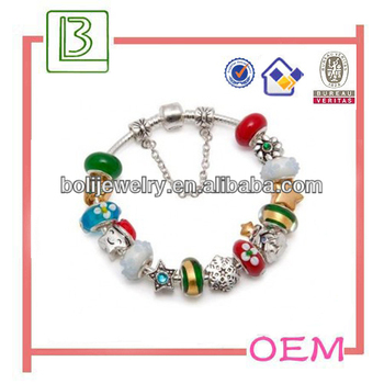 2014 Fashion Kids Christmas bracelet jewelry from factory