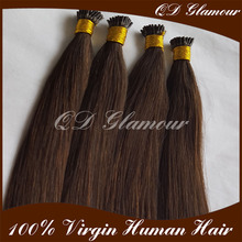 2016 New Factory Wholesale Italian Keratin Double Drawn Pre Bonded/I Tip Hair Extension