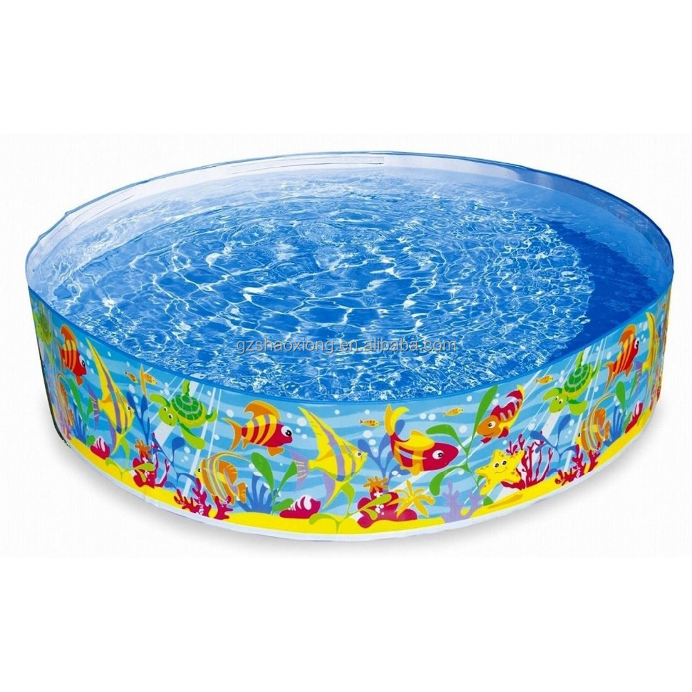 Customize Summer different shape with Cartoon printing Baby swim Inflatable pool