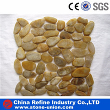 Garden decoration sliced pebble tile for walkway