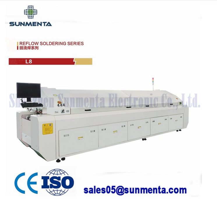 SMT Large Lead-Free PCB Assembly Solsering Reflow Oven Machine Manufacturer