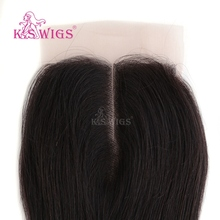 K.S WIGS 16 Inch Straight Lace Closure Wig Frontal Closure Hair Lace Human Hair With Lace Frontal Closure
