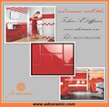 red color glazed ceramic kitchen tile for wall 75x150