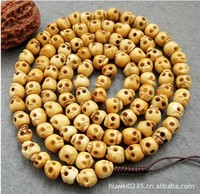 Handmade carved OX bone skull beads malas 108 prayer beads