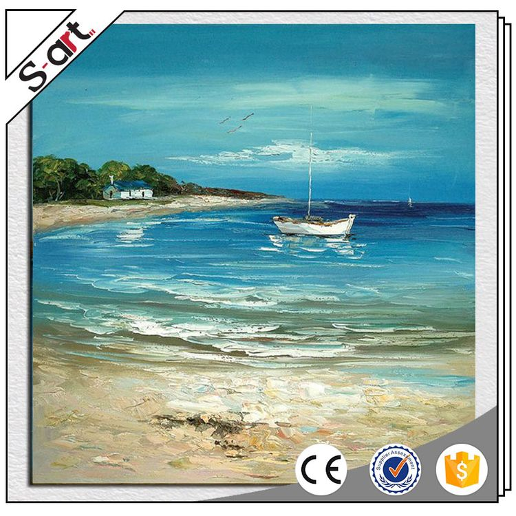China manufacture excellent seaside landscape oil painting for art gallery