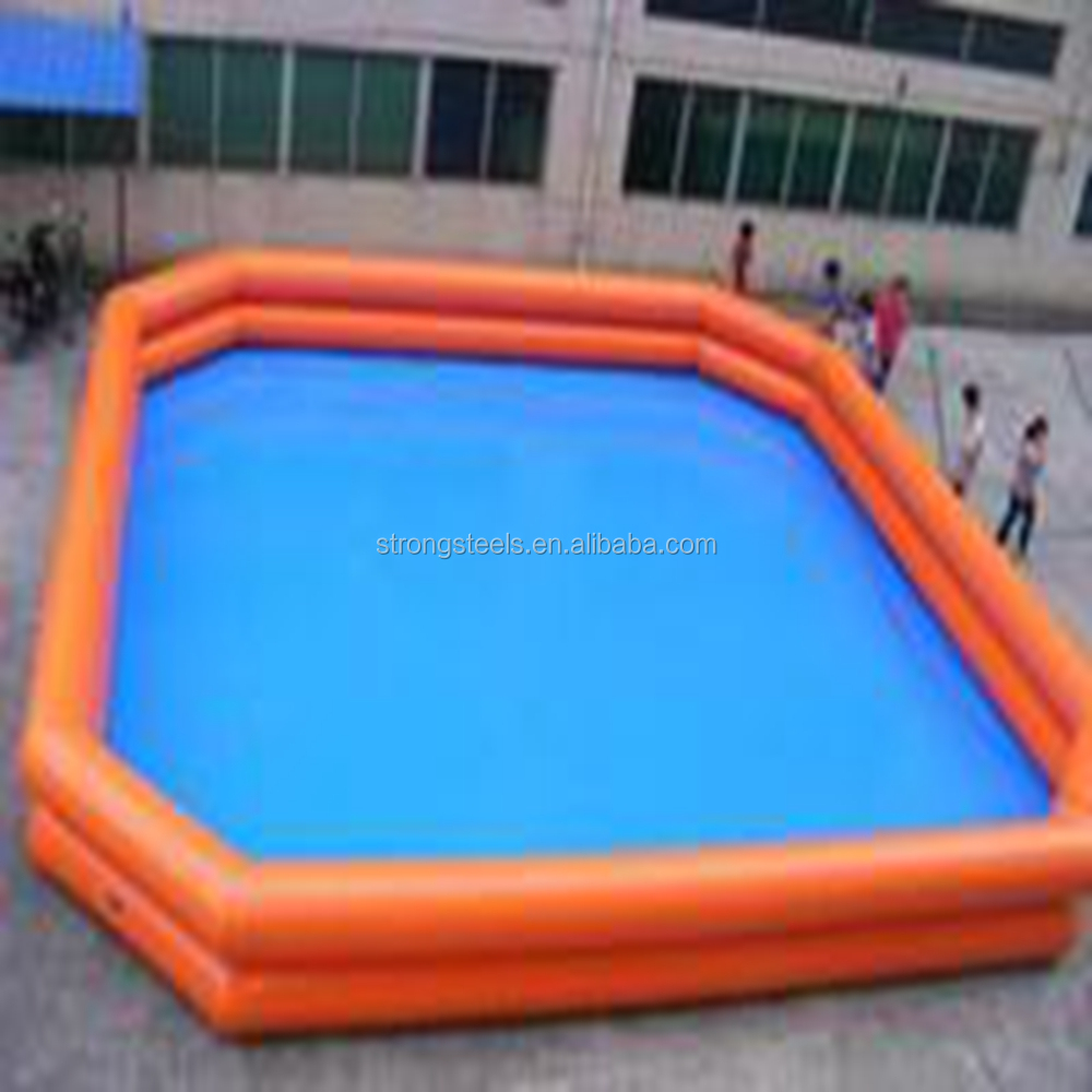 plastic collapsible PVC water tank used as swimming pool