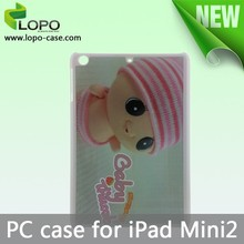 Factory supply blank sublimation case hard PC for IPADMINI with Aluminum insert