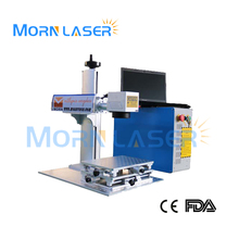 Morn brand 20W laser marking machine with Ezcad software for metal label