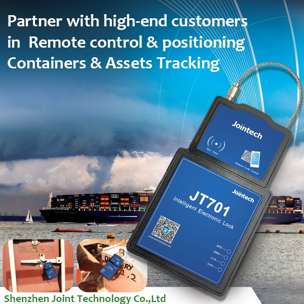 Intelligent GPS container lock with real time tracking JT701