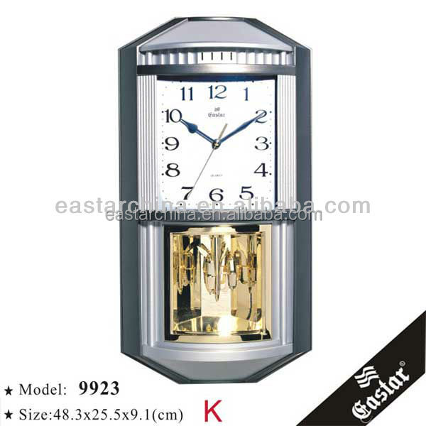 New art quartz house interior azan wall clock pendulum wall clocks