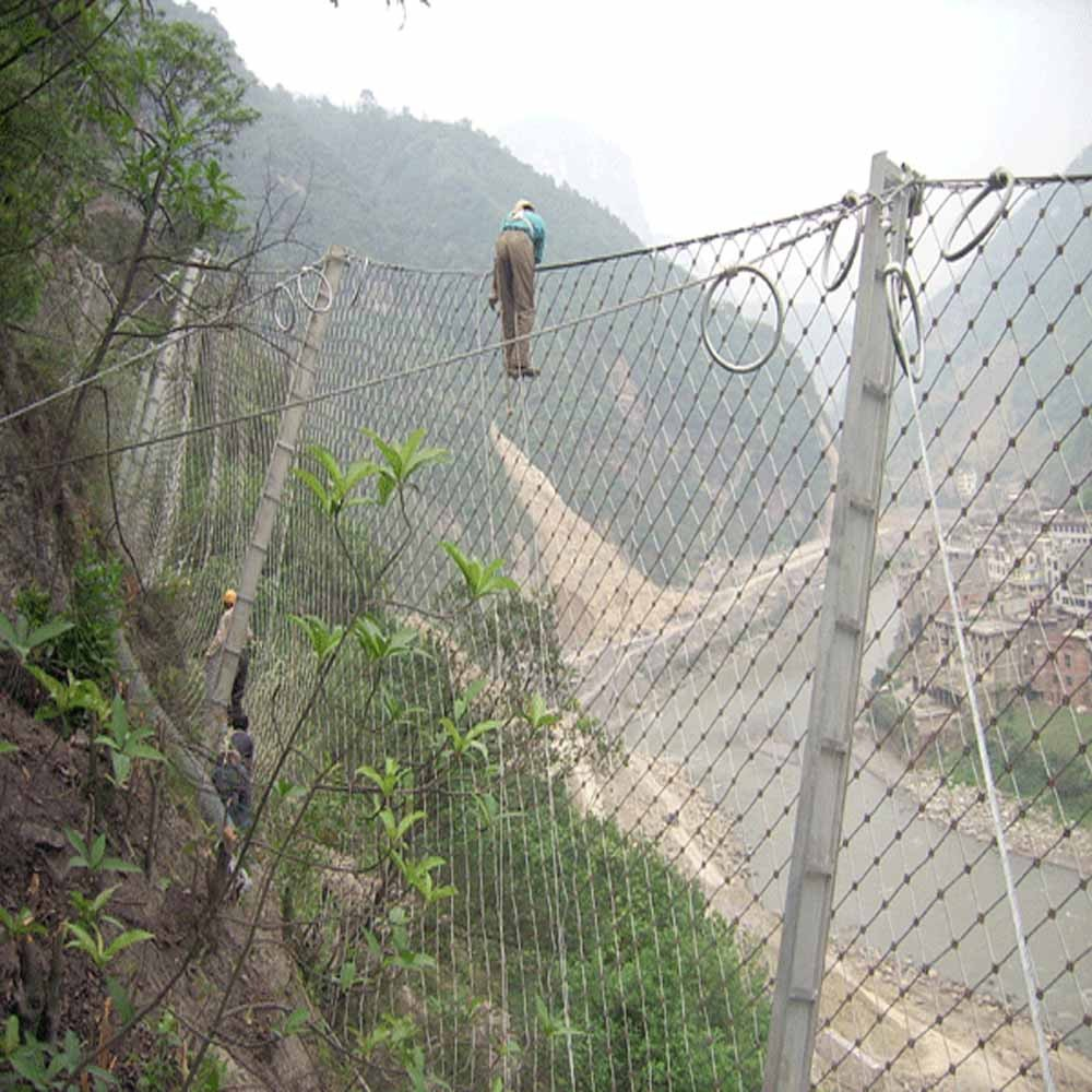 Factory direct sale wire rope mesh for slope protection