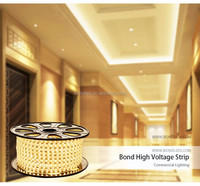 2015 hot sale led light strip 3 years warranty IP67 SMD 5050 CE ROHS high voltage AC 110 220V led light strip wholesale