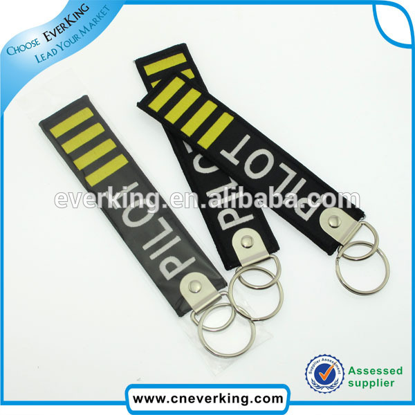High quality Embroidery Patch Fashion key rings fobs