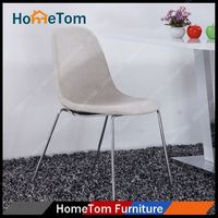 Manufacturer Wholesale Chinese Stainless Steel morden white leather dining chair