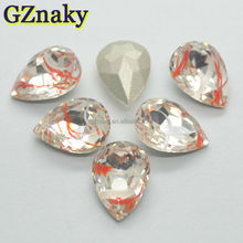 10x14mm top quality Teardrop pear cut loose gemstones hot selling