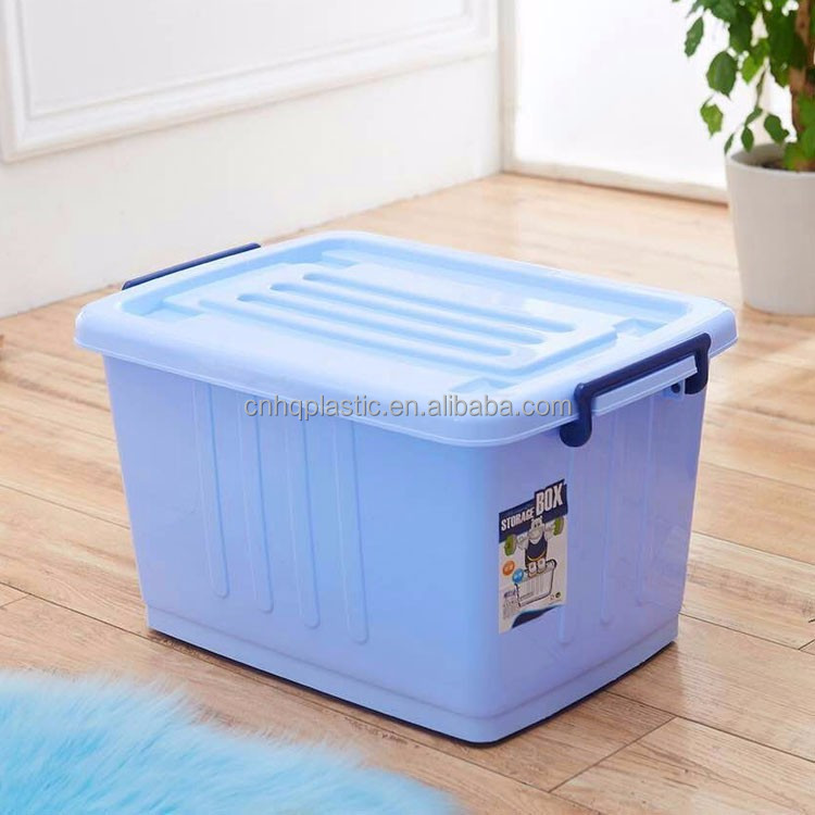 garage totes boxes with lids and clip locks for halloween and christmas storage