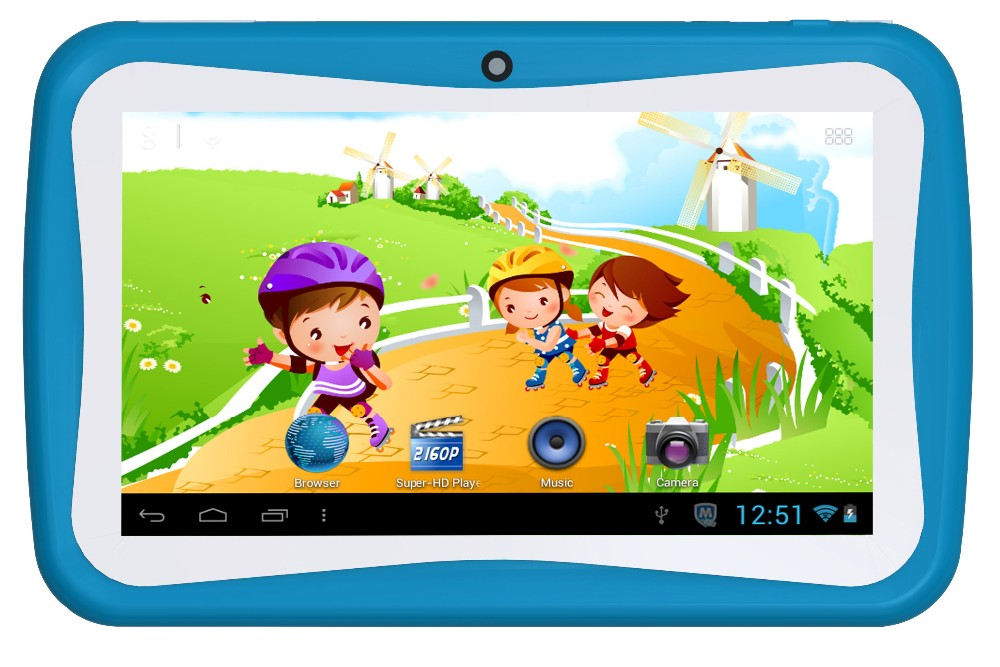 "7"" Kids Tablet PC with educational software Learning Android Pads"